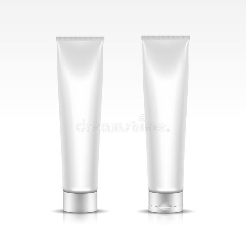Illustration de vecteur de tube pour le paquet cosmétique illustration de vecteur