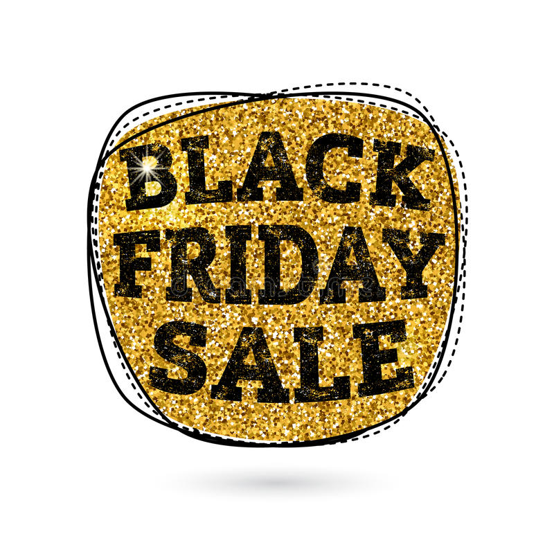 Illustration de vecteur de vente de Black Friday d'or illustration stock