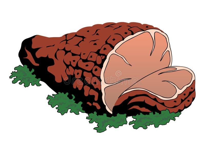 Illustration de vecteur de viande photographie stock