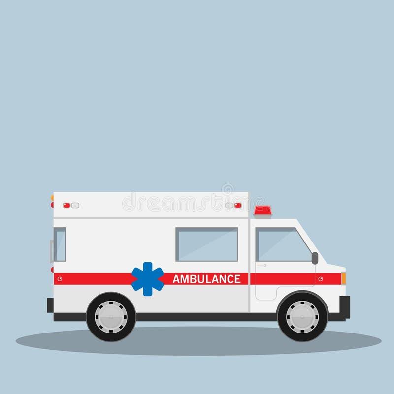 Illustration de vecteur de voiture d'ambulance d'isolement dessus illustration de vecteur