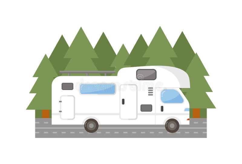 Illustration de vecteur de voiture de camion de remorque de voyage illustration de vecteur