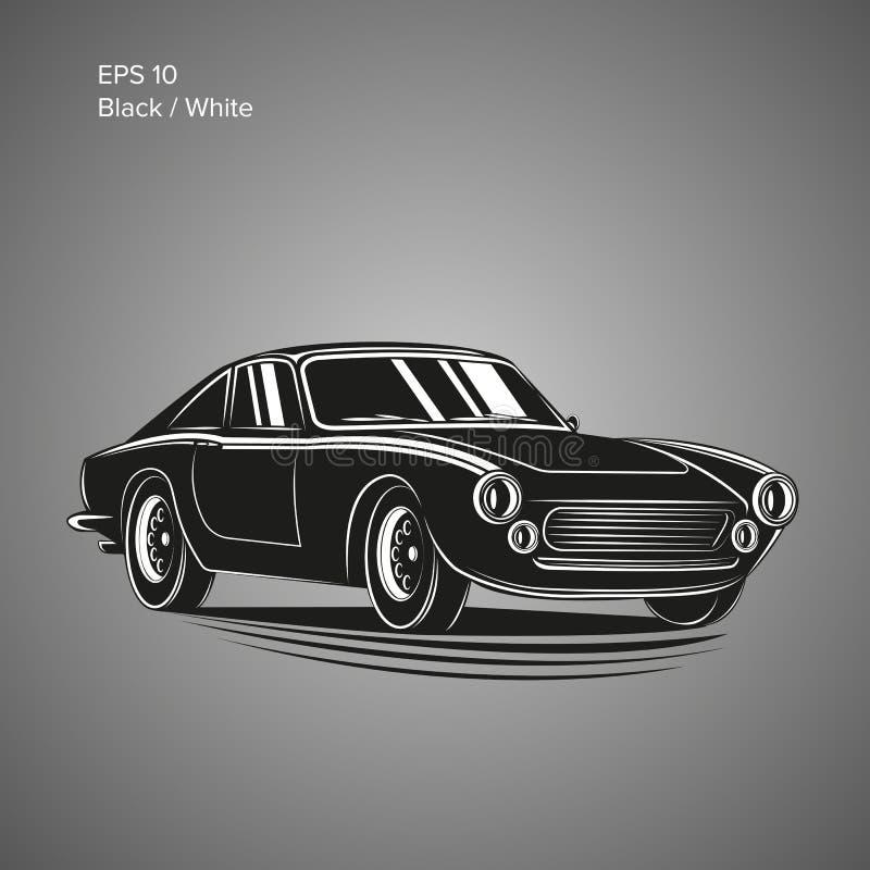 Illustration de vecteur de voiture de sport de vintage Automobile classique européenne illustration stock