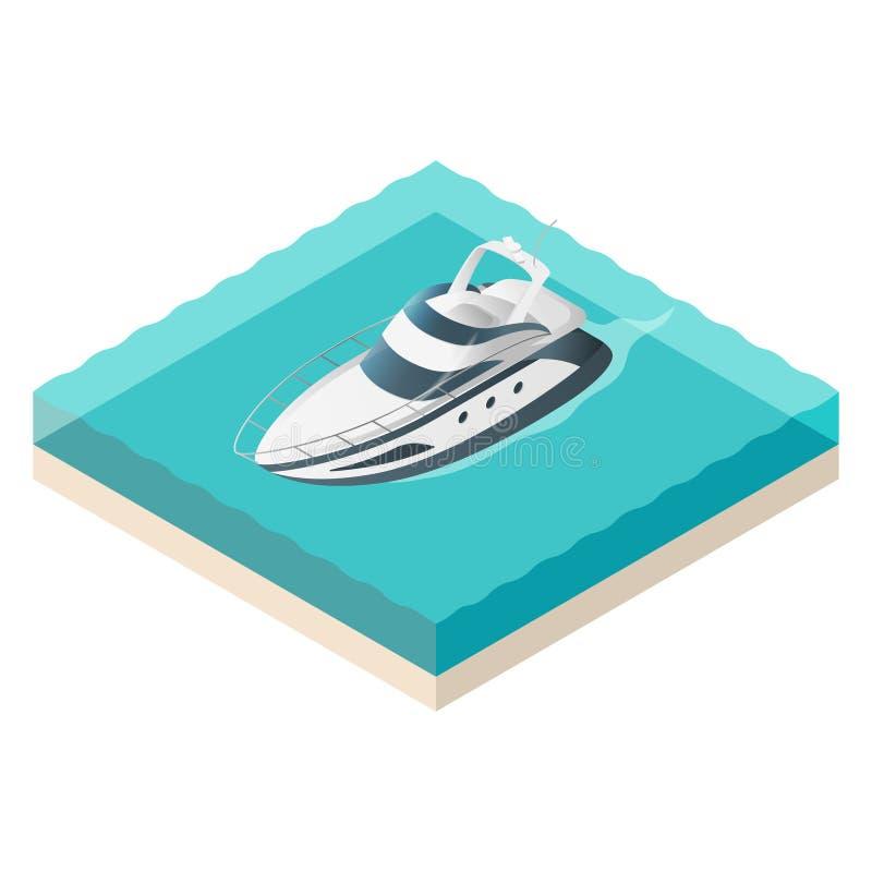 Illustration de vecteur de yacht isométrique illustration de vecteur