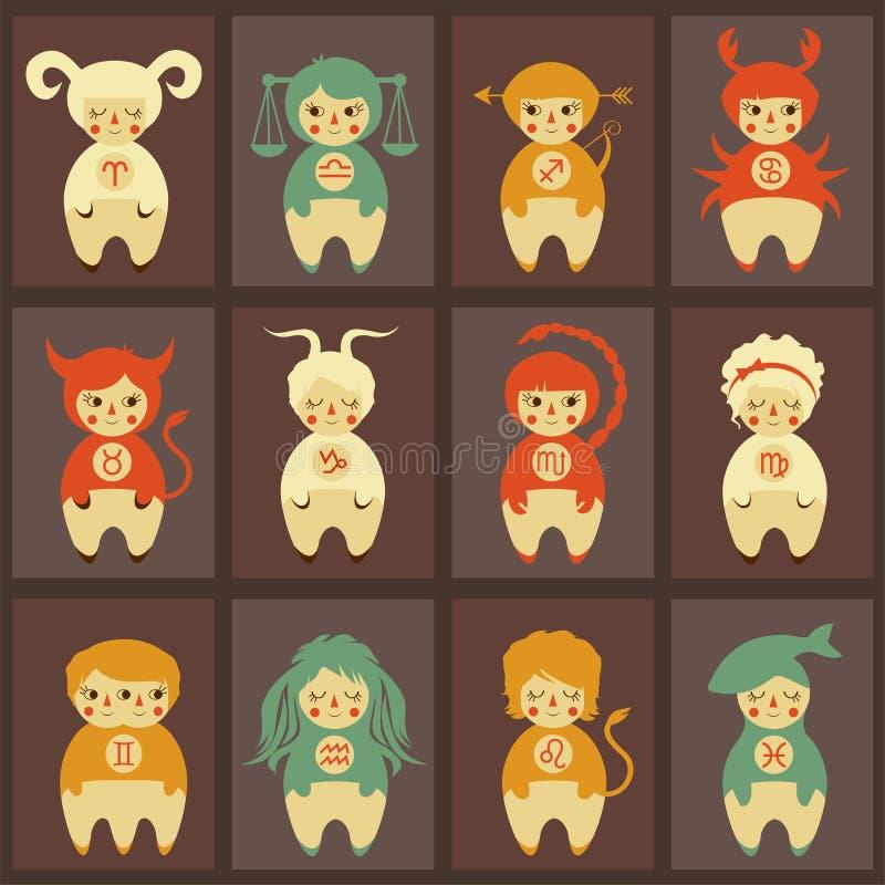 Illustration de vecteur de zodiaque illustration libre de droits