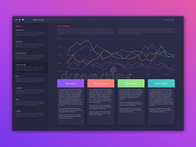 Illustration de vecteur des écrans et du concept de Web illustration de vecteur