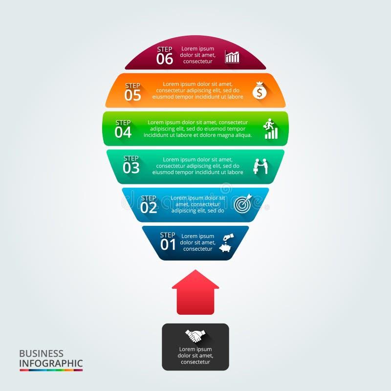 Illustration de vecteur des affaires infographic illustration libre de droits