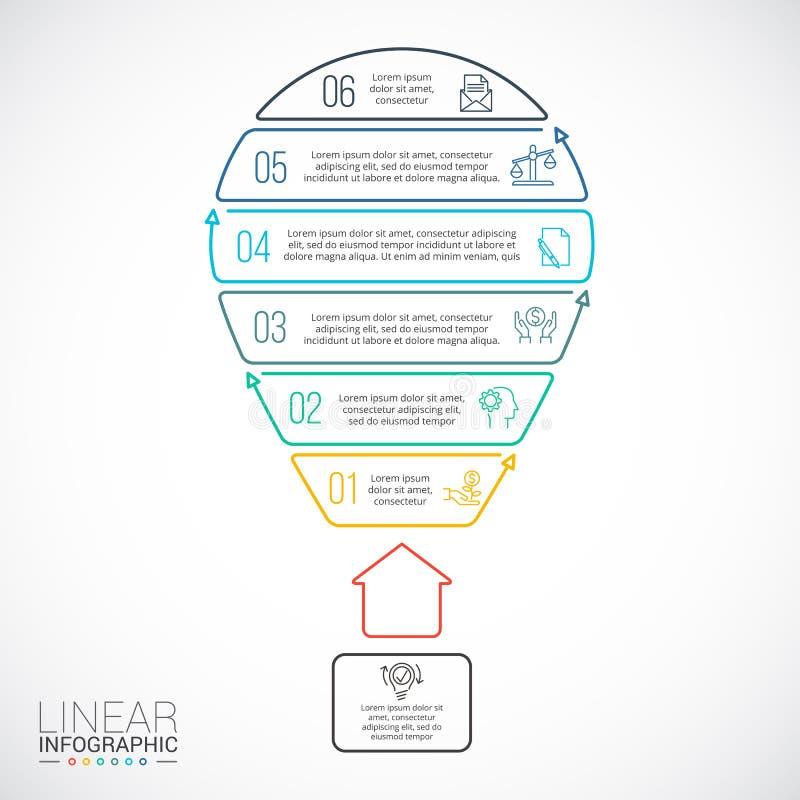 Illustration de vecteur des affaires infographic illustration de vecteur