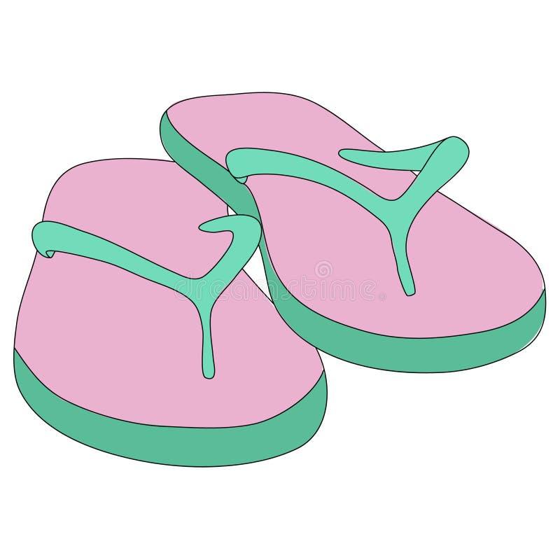 Illustration de vecteur des bascules électroniques de rose-menthe illustration libre de droits