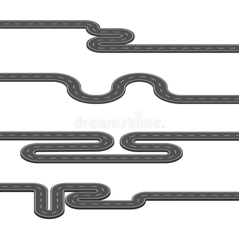 Illustration de vecteur des beaucoup carte de route avec des beaucoup indicateur illustration de vecteur