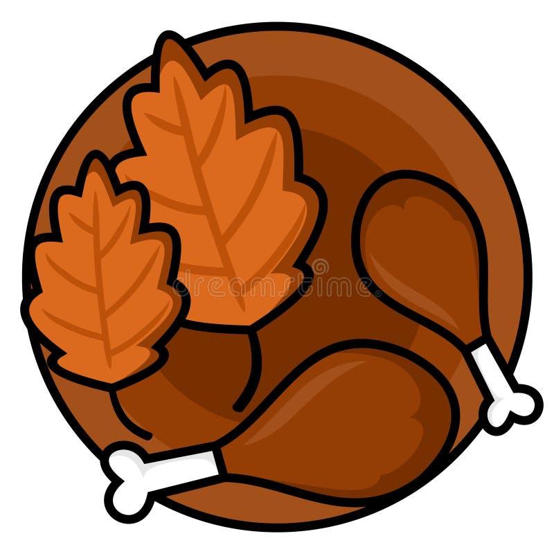 Illustration de vecteur des bibelots de jour de thanksgiving photographie stock