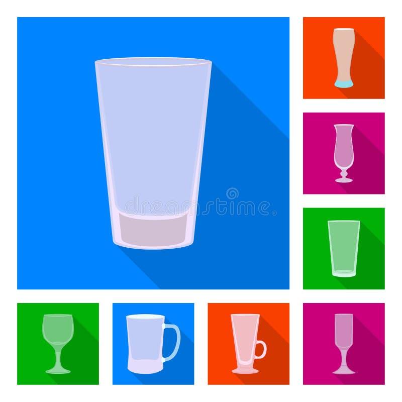 Illustration de vecteur des boissons et du signe de restaurant Collection de boissons et ic?ne de vecteur de c?l?bration pour des illustration stock