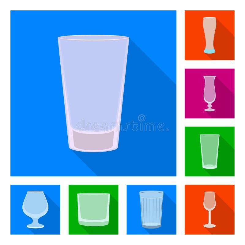 Illustration de vecteur des boissons et du symbole de restaurant Placez des boissons et de l'ic?ne de vecteur de c?l?bration pour illustration stock
