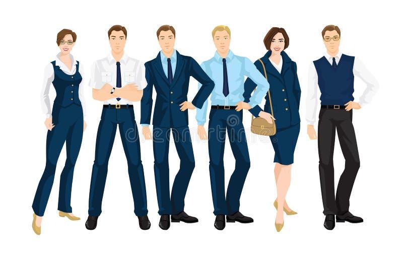 Illustration de vecteur des gens d'affaires illustration stock