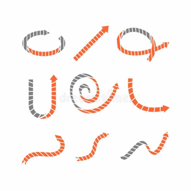 Illustration de vecteur des icônes incurvées de flèche illustration de vecteur