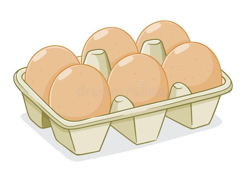 Illustration de vecteur des oeufs dans un carton illustration libre de droits