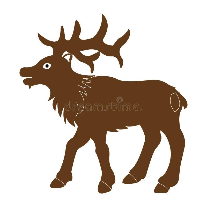 Illustration de vecteur des orignaux de taureau sur le fond blanc illustration de vecteur