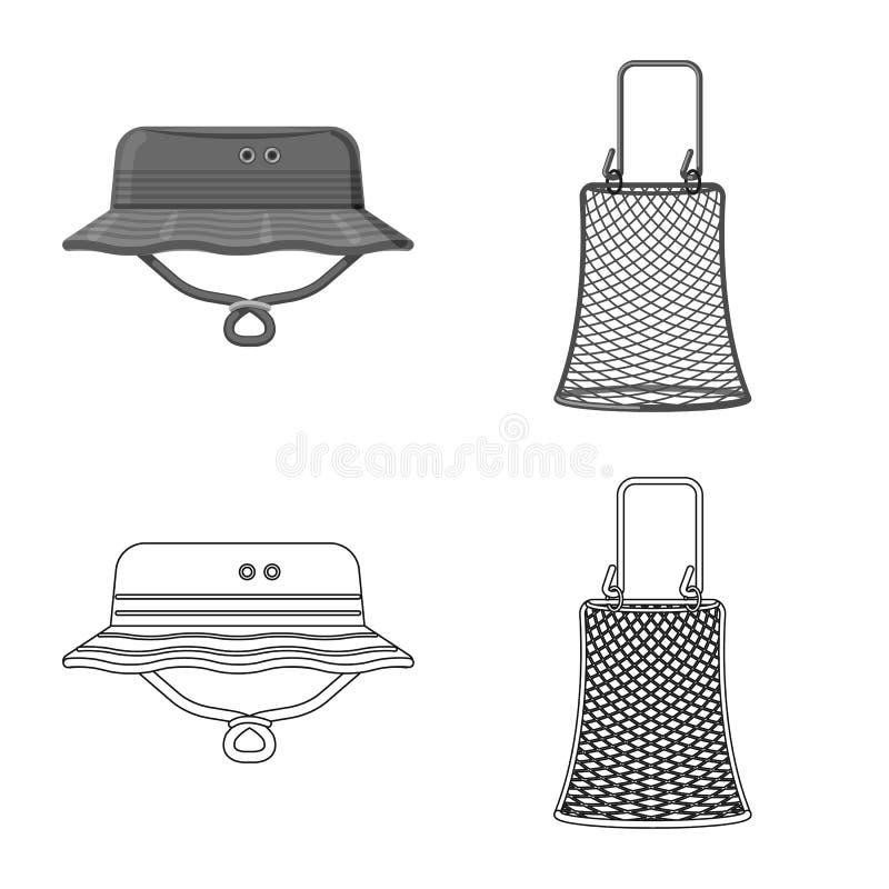 Illustration de vecteur des poissons et du logo de pêche Collection de l'illustration courante de vecteur de poissons et d'équipe illustration de vecteur