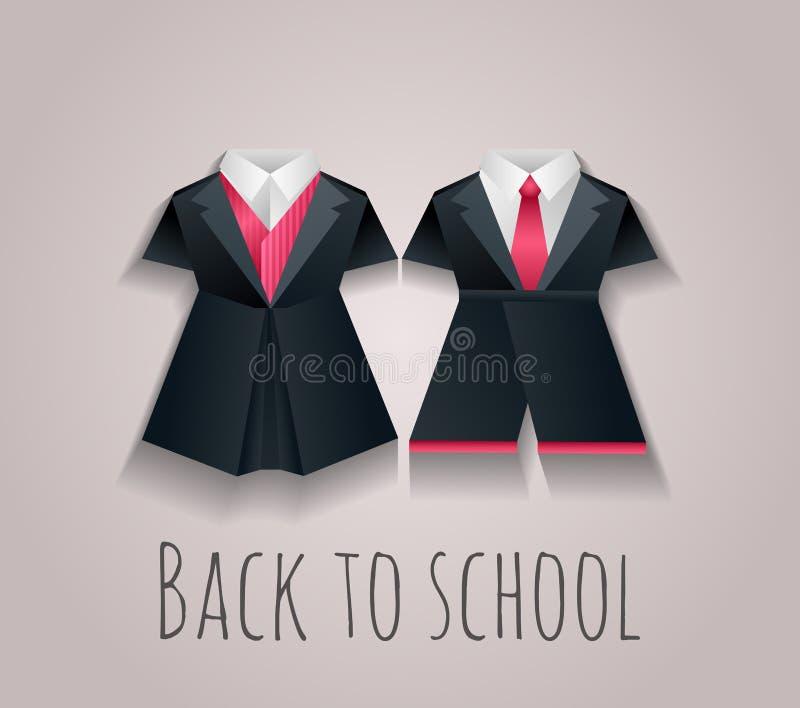 Illustration de vecteur des uniformes des enfants pour l'école illustration de vecteur