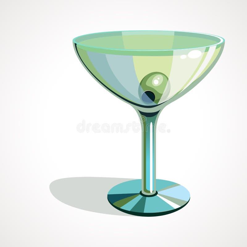 Illustration de vecteur des verres de martini avec des olives illustration libre de droits