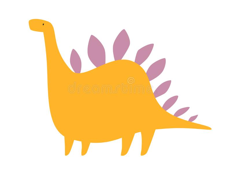 Illustration de vecteur de dinosaure Dino heureux mignon illustration stock