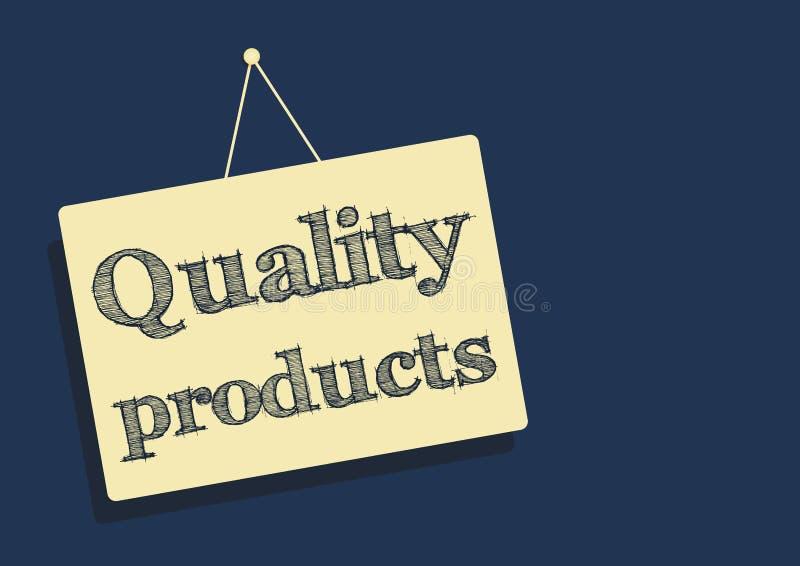 Illustration de vecteur de disque d'autocollant de produits de qualité illustration stock
