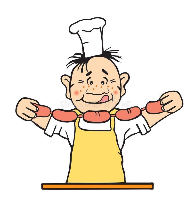 Illustration de vecteur du cuisinier images libres de droits