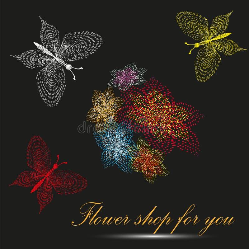 Illustration de vecteur du fleuriste pour vous illustration de vecteur