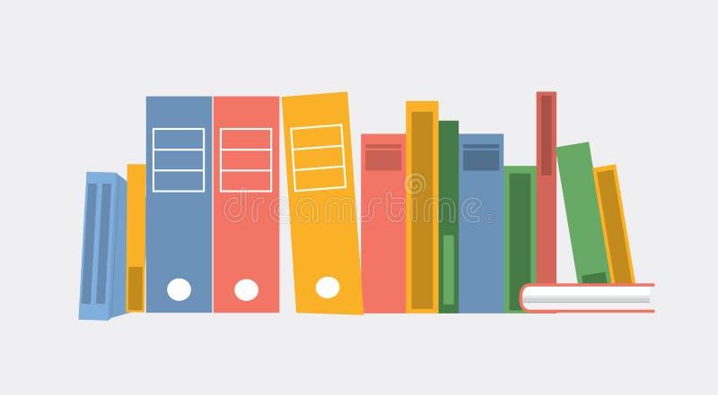 Illustration de vecteur Ensemble de livres et de dossiers illustration de vecteur