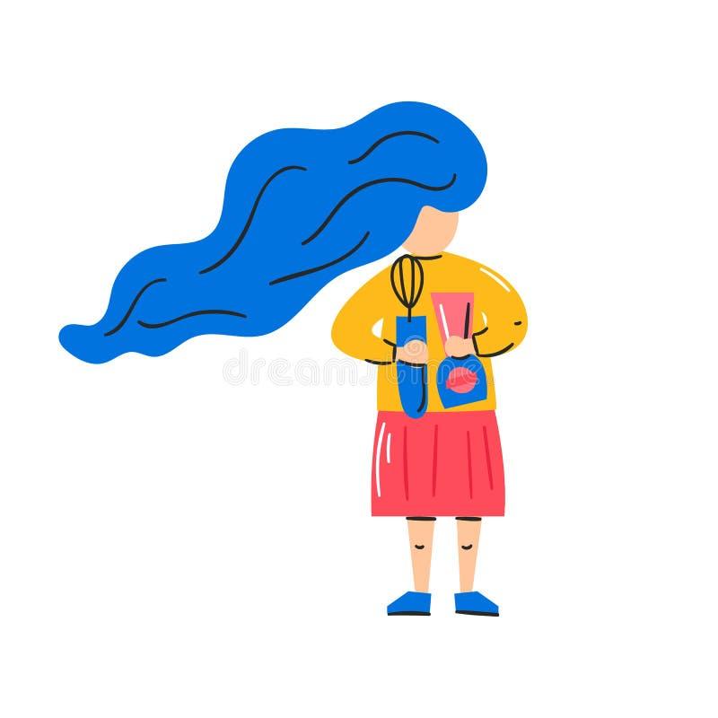 Illustration de vecteur : femme, mélangeur, mélangeur illustration libre de droits