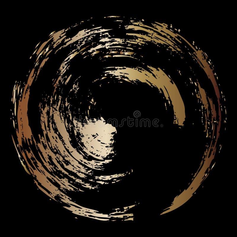 Illustration de vecteur Fond abstrait de noir et d'or Cercle d'or illustration libre de droits