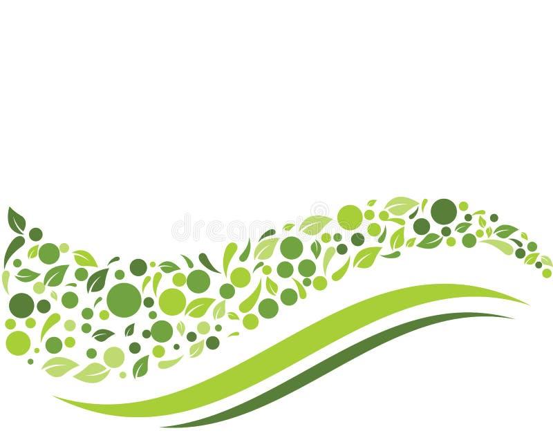 Illustration de vecteur de fond de feuille de nature d'Eco illustration de vecteur