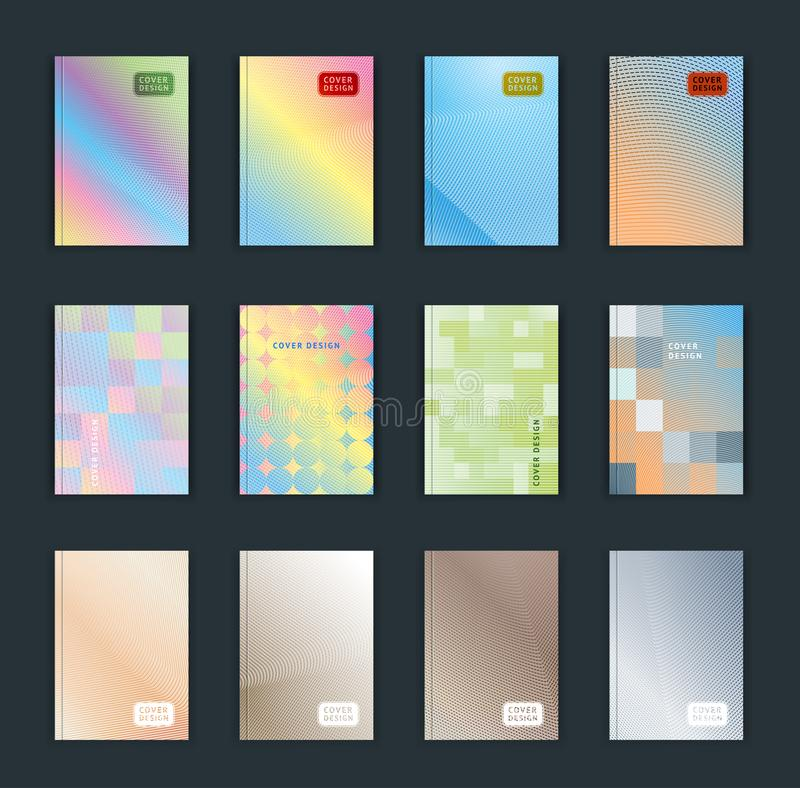 Illustration de vecteur de fond lumineux de modèle d'abrégé sur couleur avec la ligne texture de gradient pour la conception dyna illustration stock