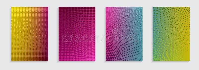 Illustration de vecteur de fond lumineux de modèle d'abrégé sur couleur avec le motif tramé pour la conception dynamique minimale illustration de vecteur
