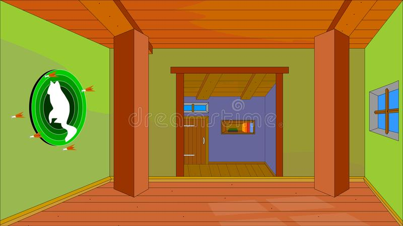 Illustration de vecteur Fond pour l'animation, maison de souris illustration stock