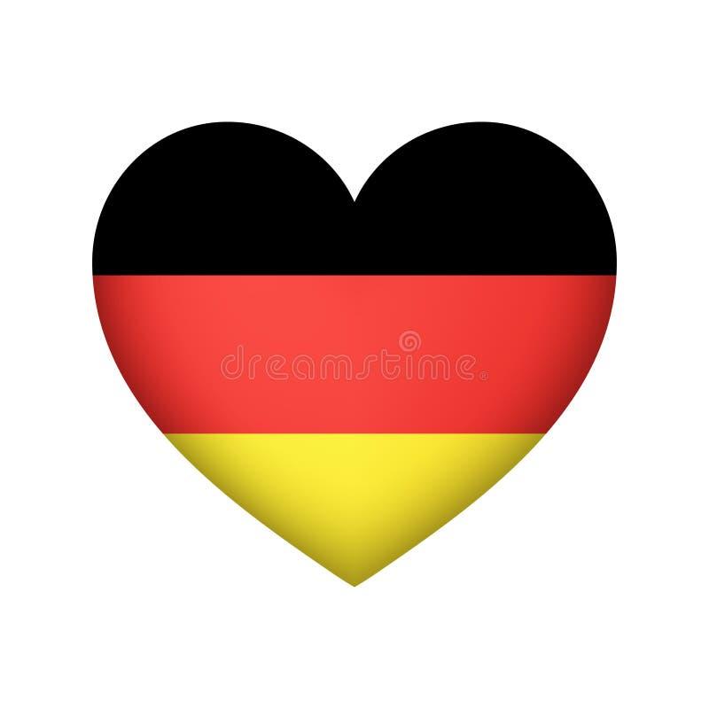 Illustration de vecteur de forme de coeur de drapeau de l'Allemagne illustration stock