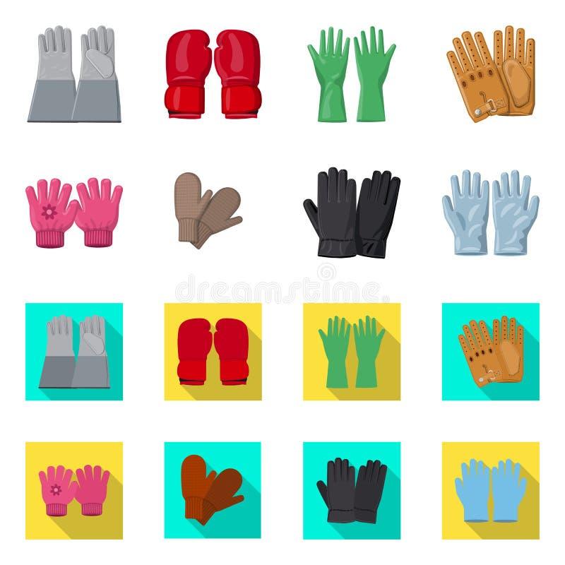 Illustration de vecteur de gant et de symbole d'hiver Collection de l'illustration courante de vecteur de gant et d'?quipement illustration de vecteur