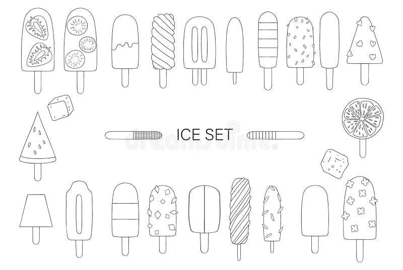Illustration de vecteur de glace noire et blanche illustration libre de droits
