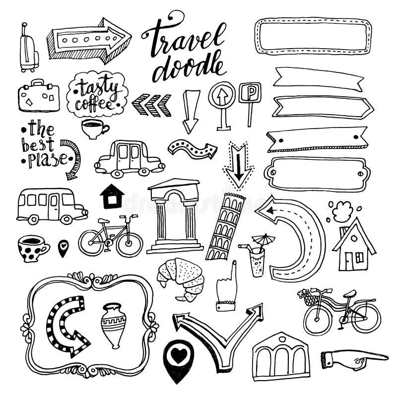 Illustration de vecteur Griffonnages au sujet de voyage illustration de vecteur