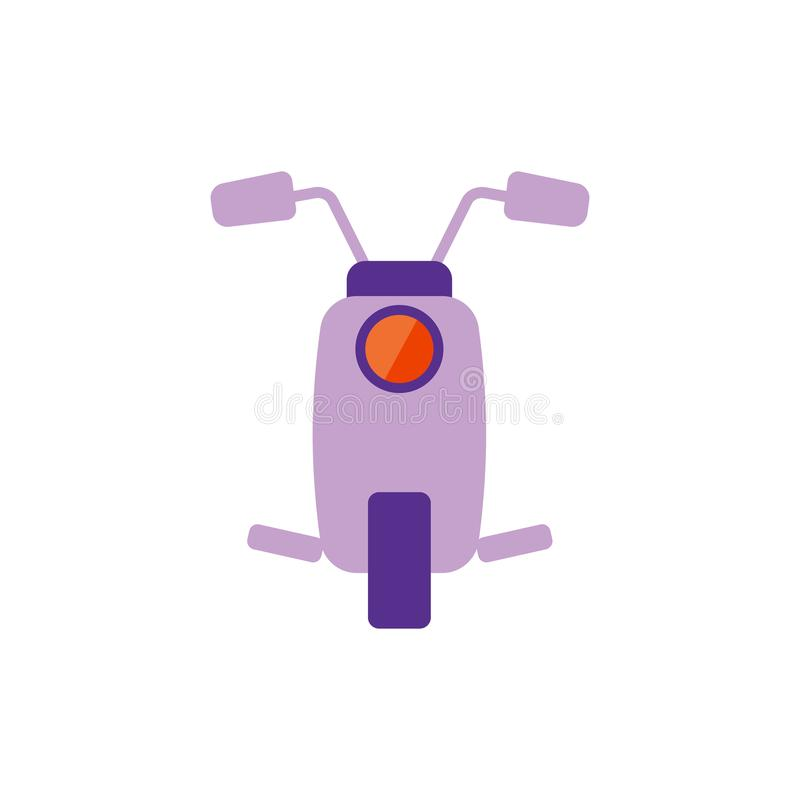 Illustration de vecteur Icône plate de scooter illustration de vecteur