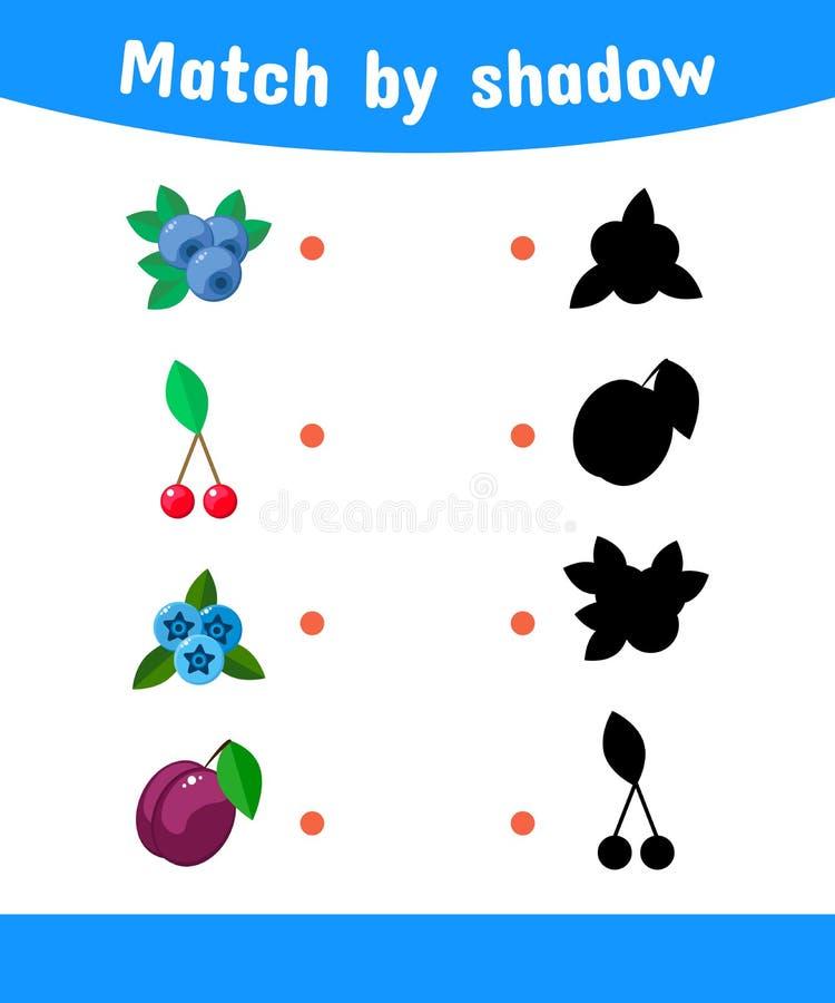 Illustration de vecteur Jeu d'assortiment pour des enfants Reliez le sha illustration de vecteur