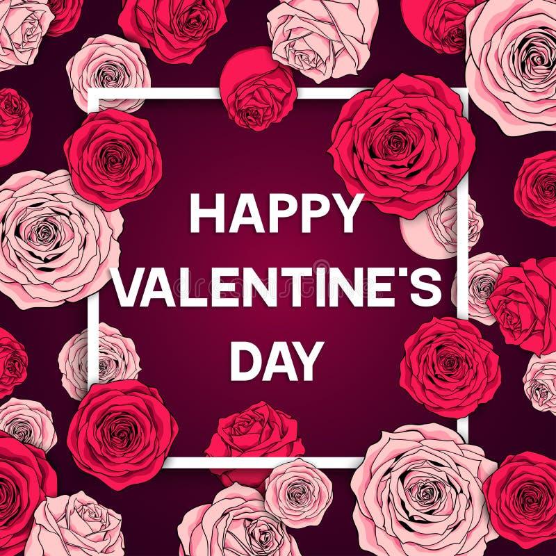 Illustration de vecteur de jour du ` s de Valentine de carte illustration stock