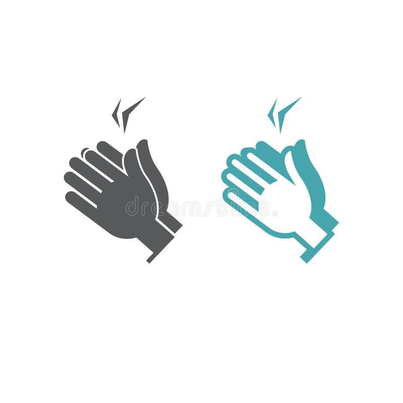 Illustration de vecteur de l'applaudissement de deux mains illustration libre de droits