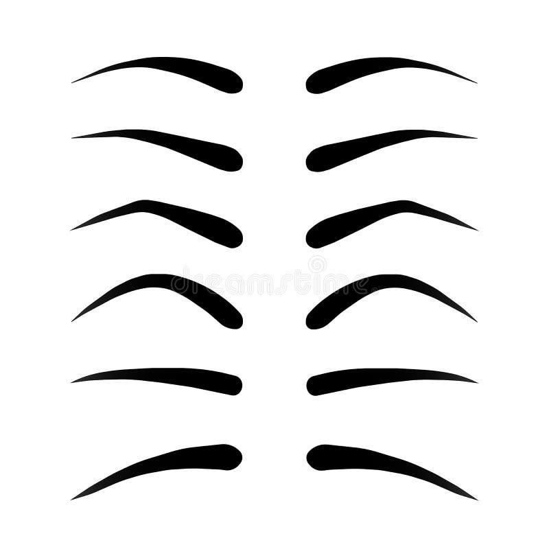 Illustration de vecteur de l'ensemble de sourcils pelucheux illustration de vecteur