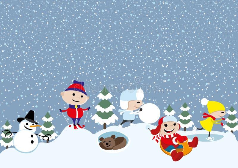 Illustration de vecteur L'hiver illustration de vecteur
