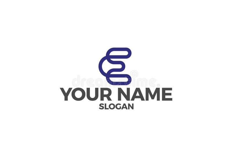 Illustration de vecteur de la lettre E Logo Design illustration stock