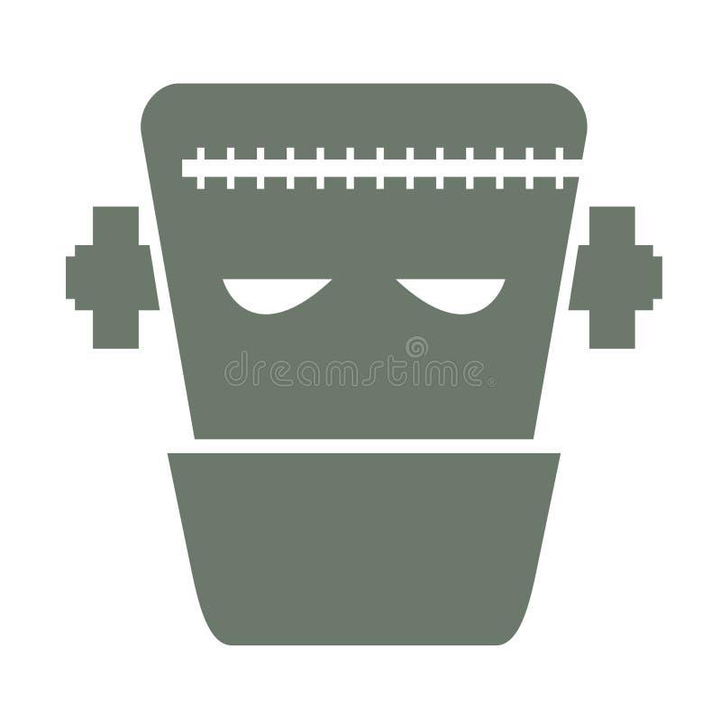 Illustration de vecteur de la tête du caractère de Frankenstein photos libres de droits