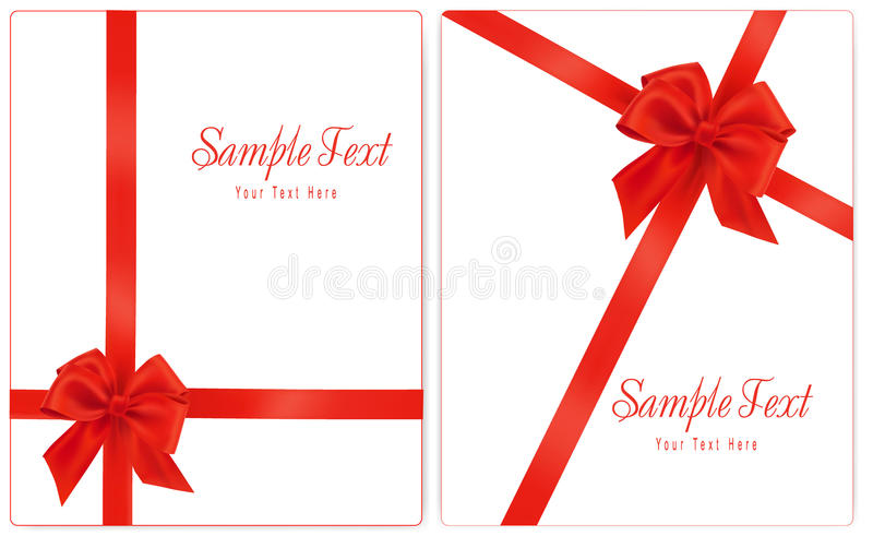 Illustration de vecteur. Le ramassage du cadeau rouge cintre W illustration stock