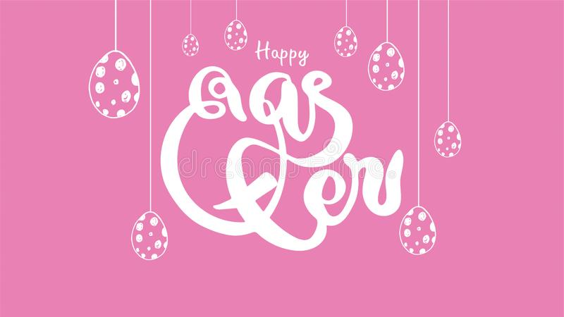 Illustration de vecteur Lettrage coloré moderne élégant tiré par la main heureux de Pâques d'isolement sur le fond - Le fichier d illustration libre de droits