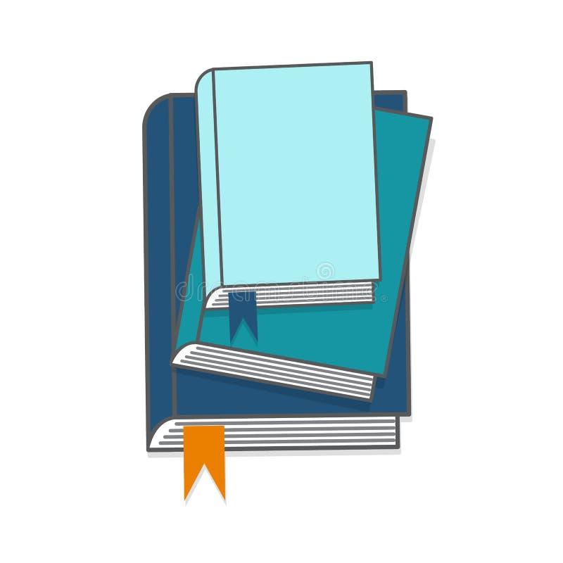 Illustration de vecteur de livres Pile de livres Livres d'éducation, vecteur tutorials illustration libre de droits