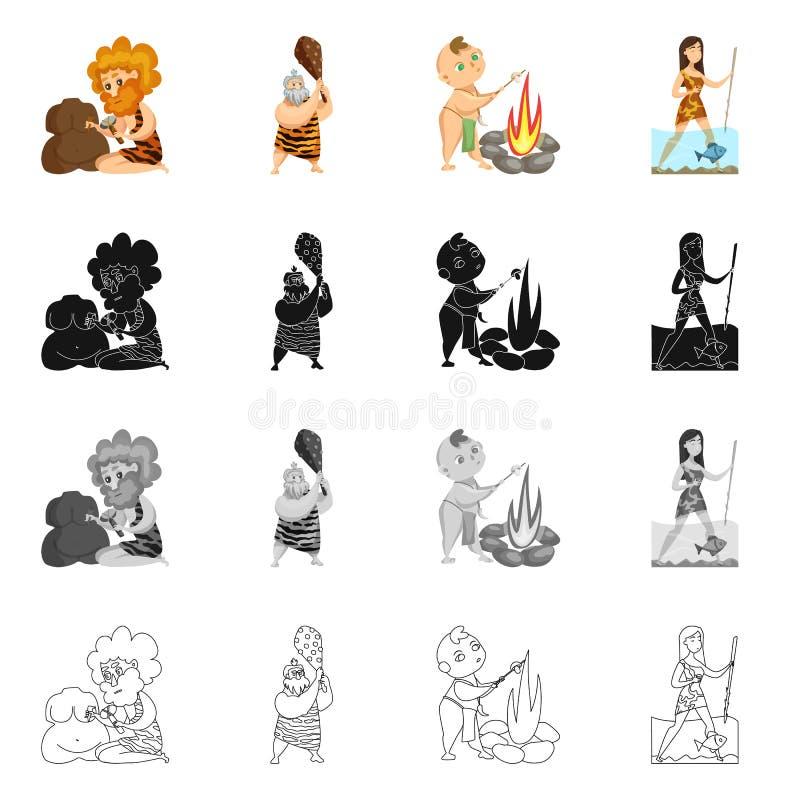 Illustration de vecteur de logo d'évolution et de préhistoire Placez du symbole boursier d'évolution et de développement pour le  illustration de vecteur